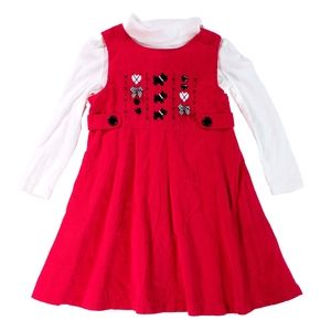 Circo Red Sundress with Turtleneck 5T